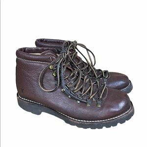 Vintage Frye Leather Hiking Boots